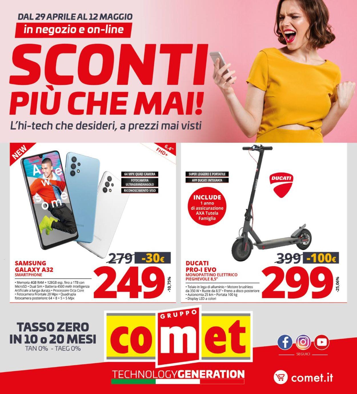 Volantino Comet - Offerte 29/04-12/05/2021