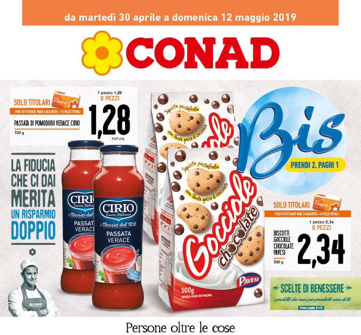 Volantino Conad - Offerte 30/04-12/05/2019