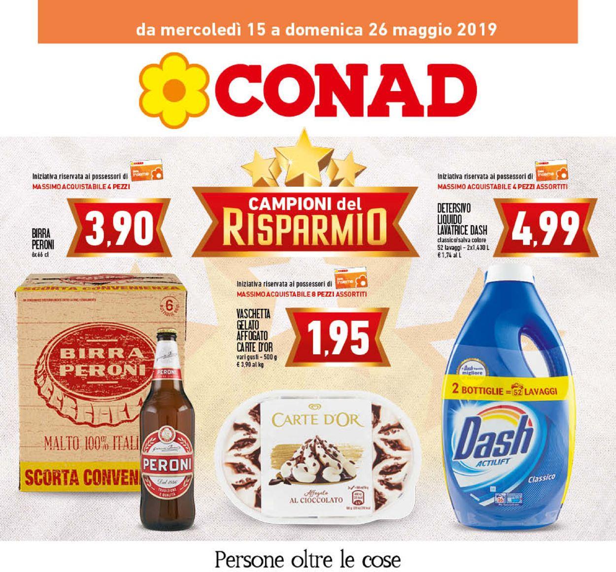 Volantino Conad - Offerte 15/05-26/05/2019