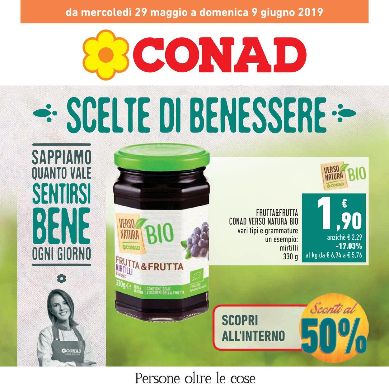 Volantino Conad - Offerte 29/05-09/06/2019
