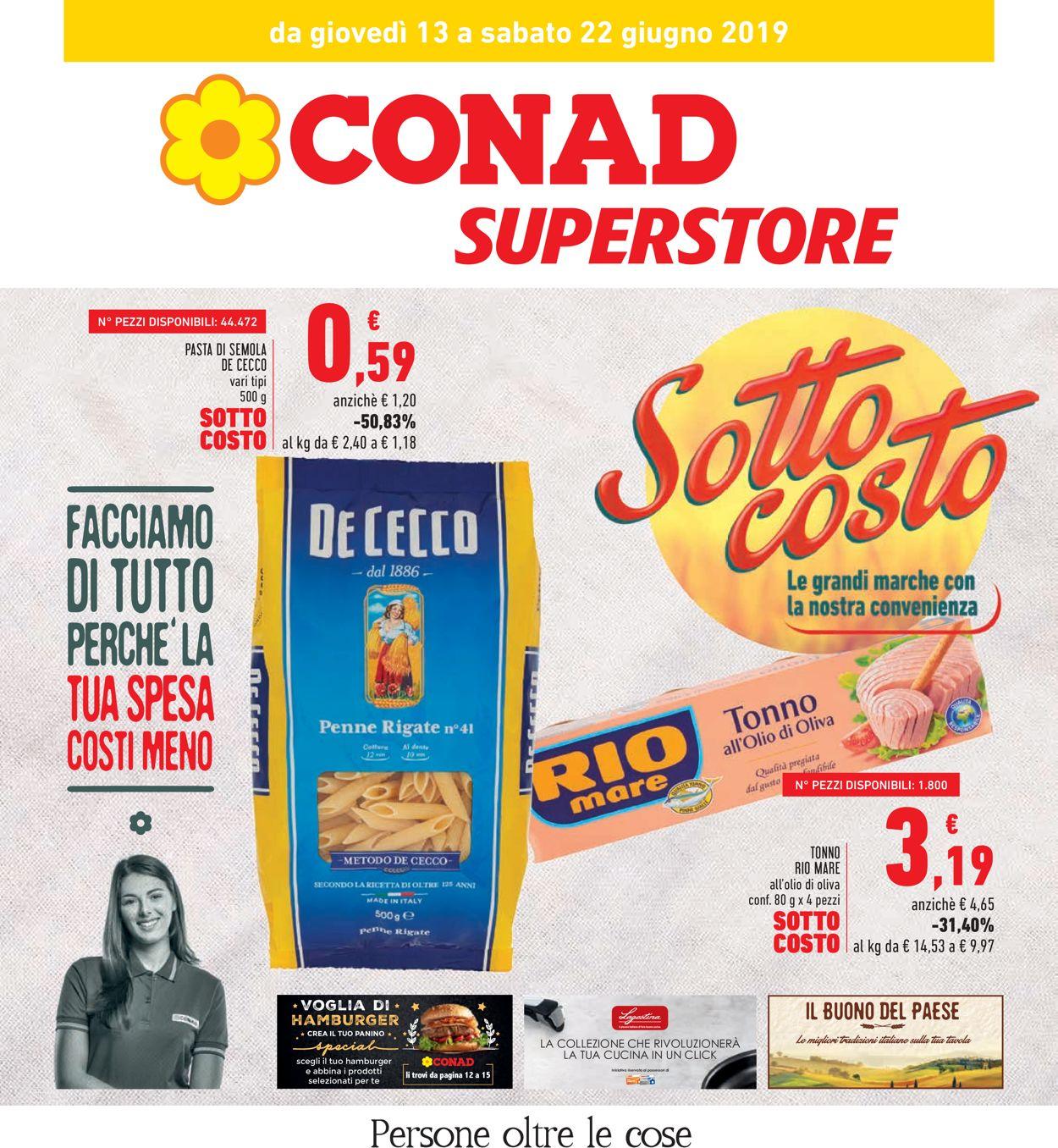 Volantino Conad - Offerte 13/06-22/06/2019