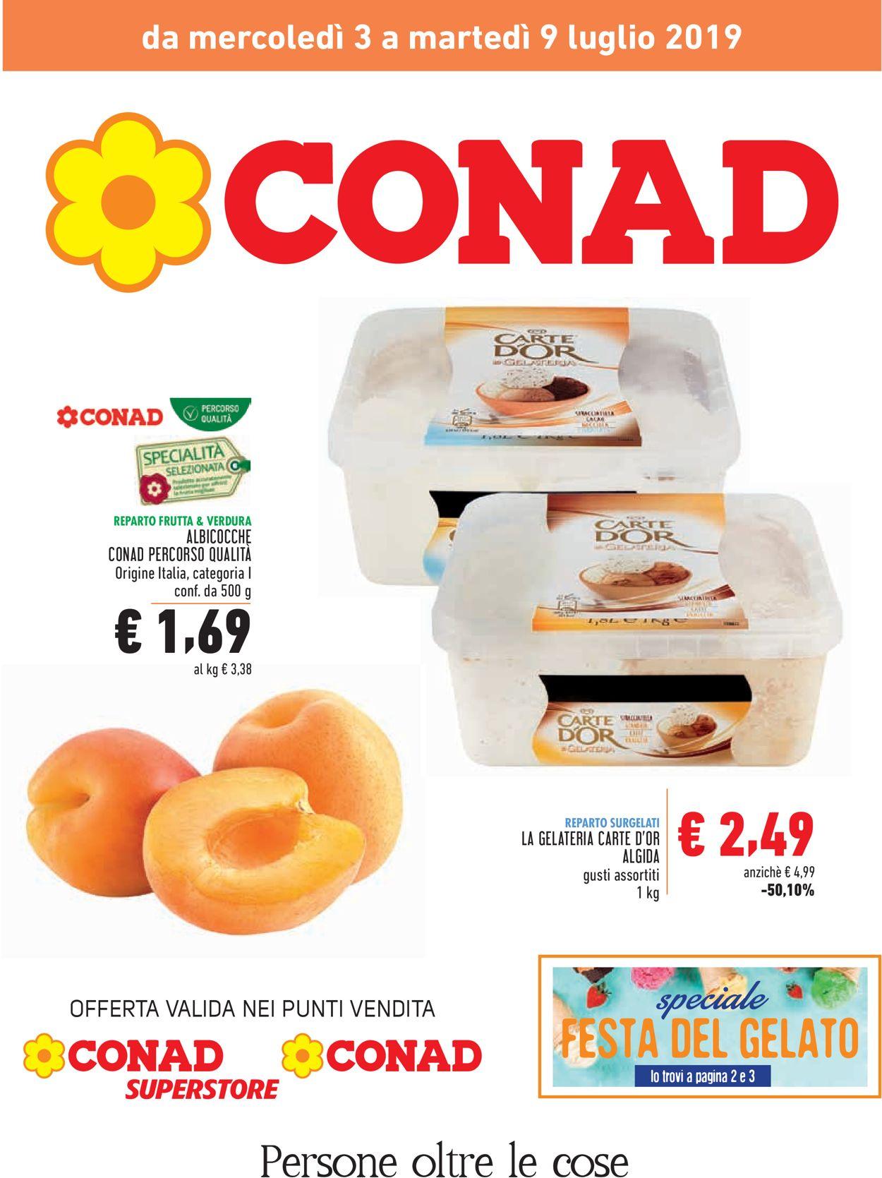 Volantino Conad - Offerte 03/07-09/07/2019