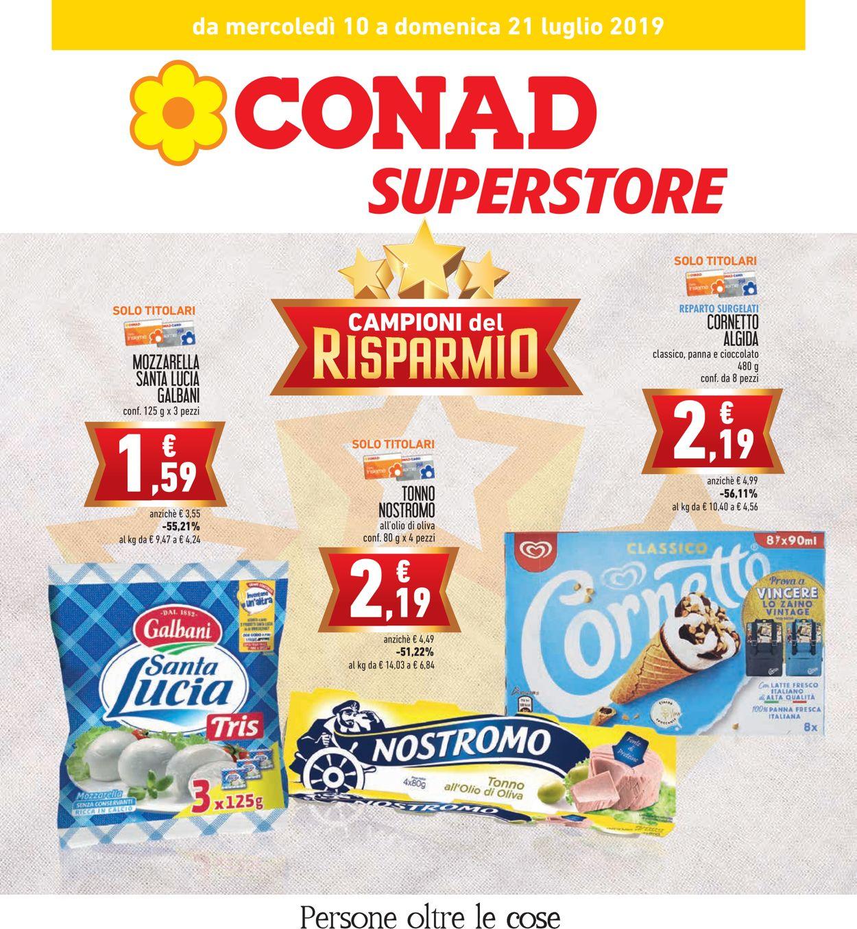 Volantino Conad - Offerte 10/07-21/07/2019