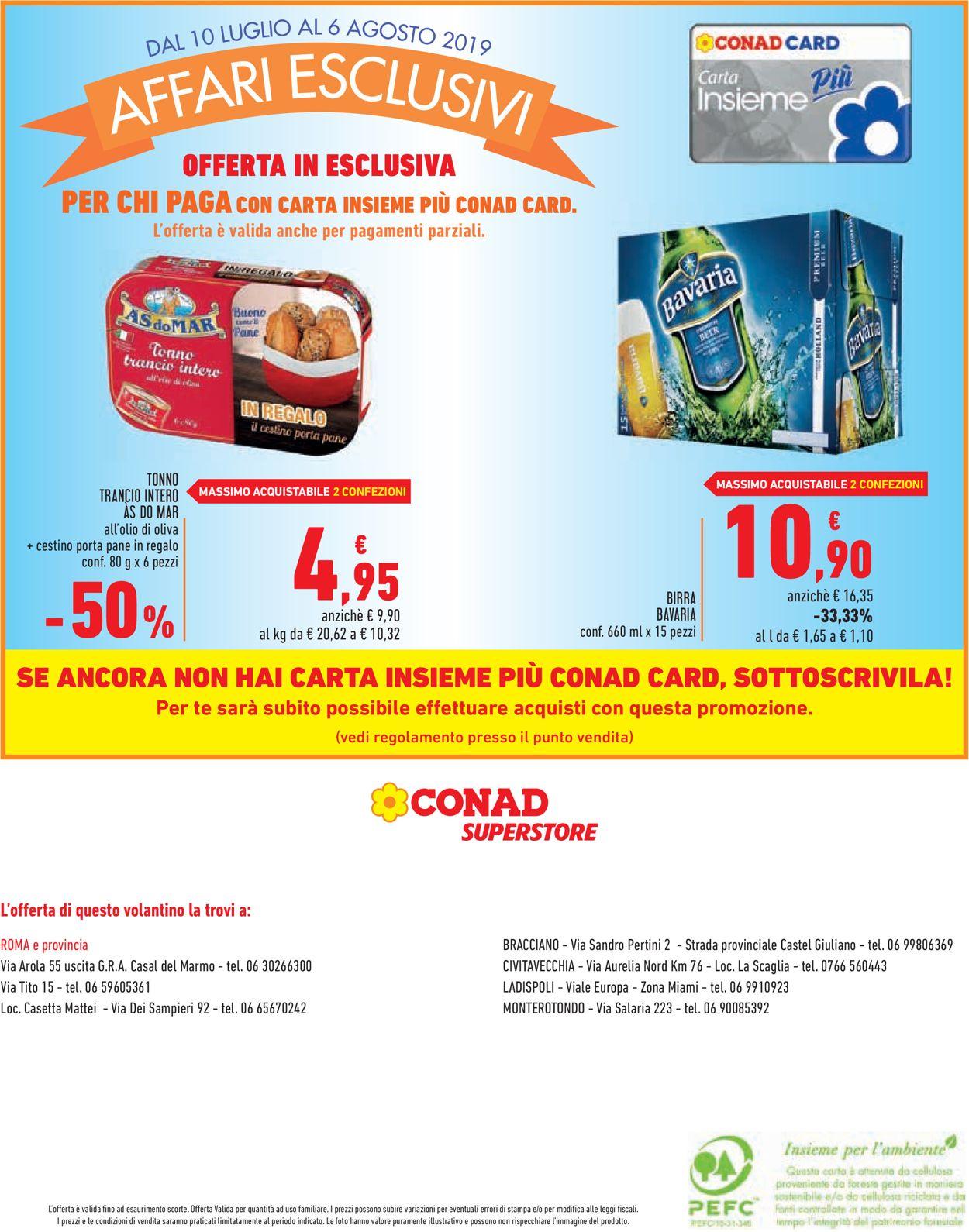 Volantino Conad - Offerte 10/07-06/08/2019 (Pagina 16)