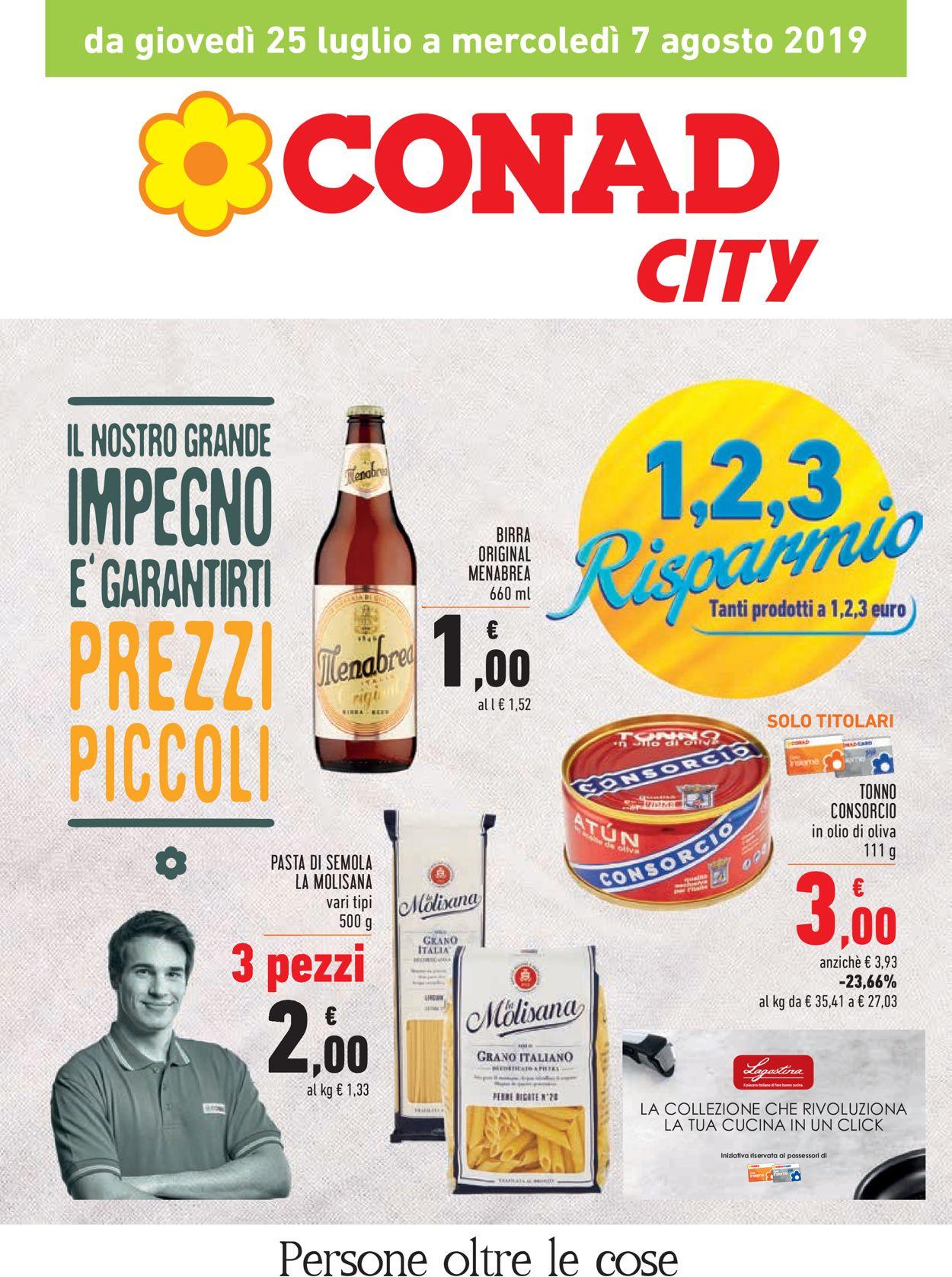 Volantino Conad - Offerte 25/07-07/08/2019
