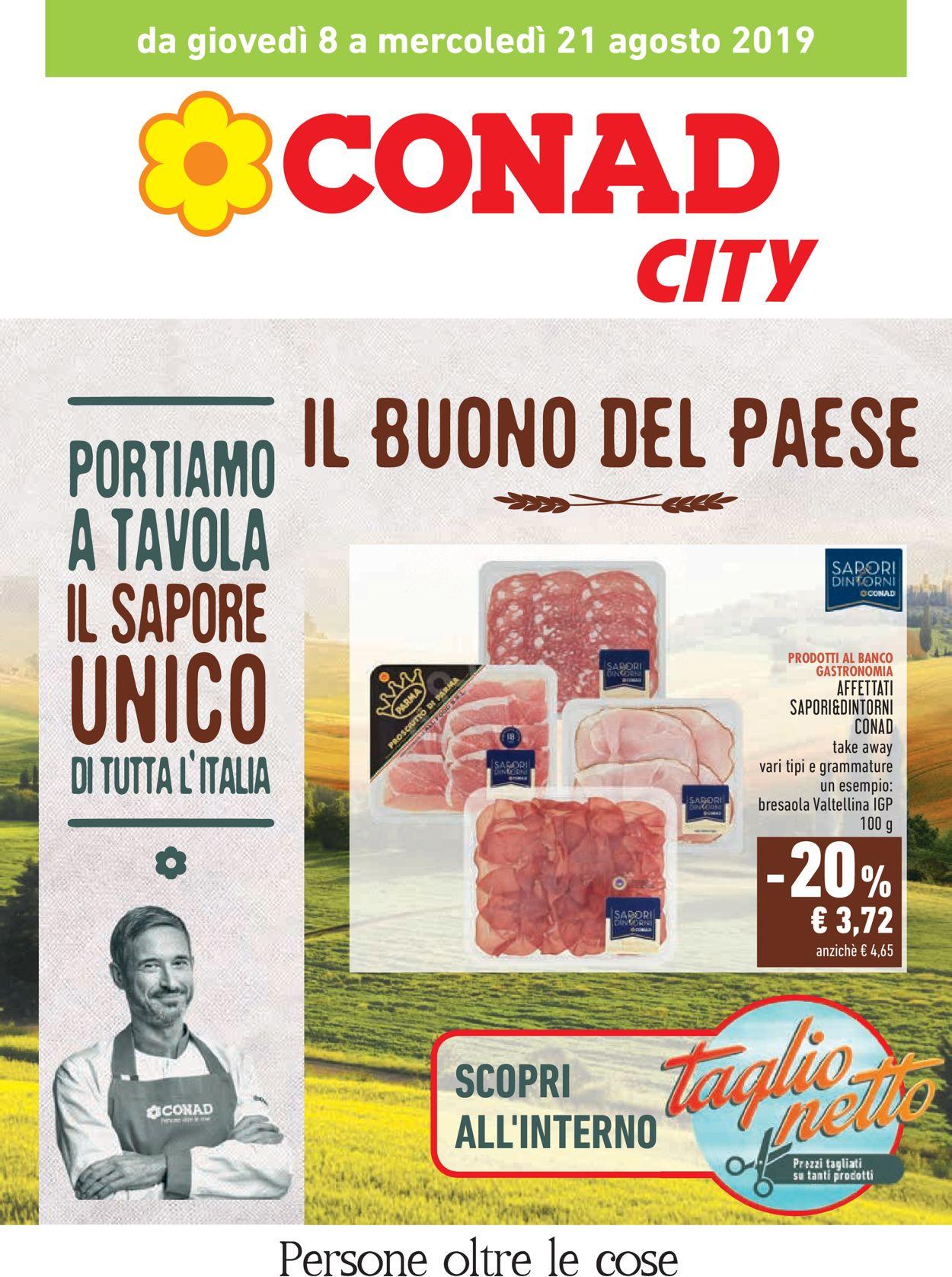 Volantino Conad - Offerte 08/08-21/08/2019