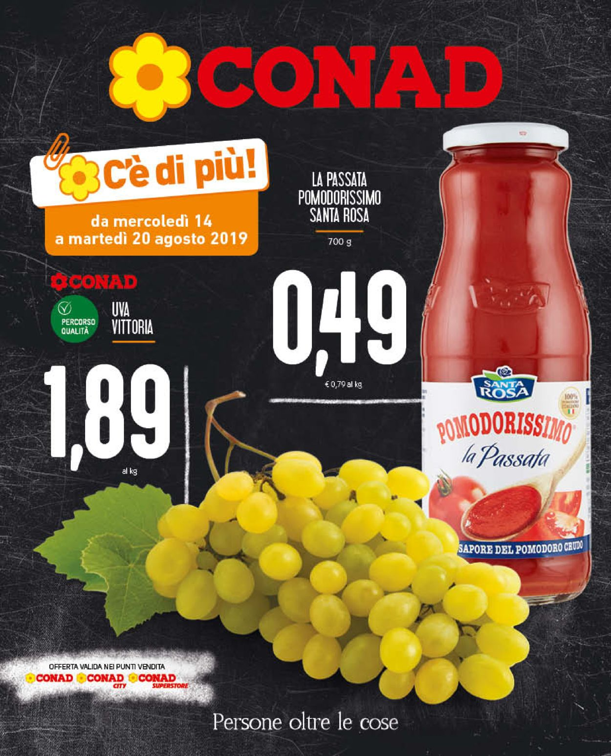 Volantino Conad - Offerte 14/08-20/08/2019