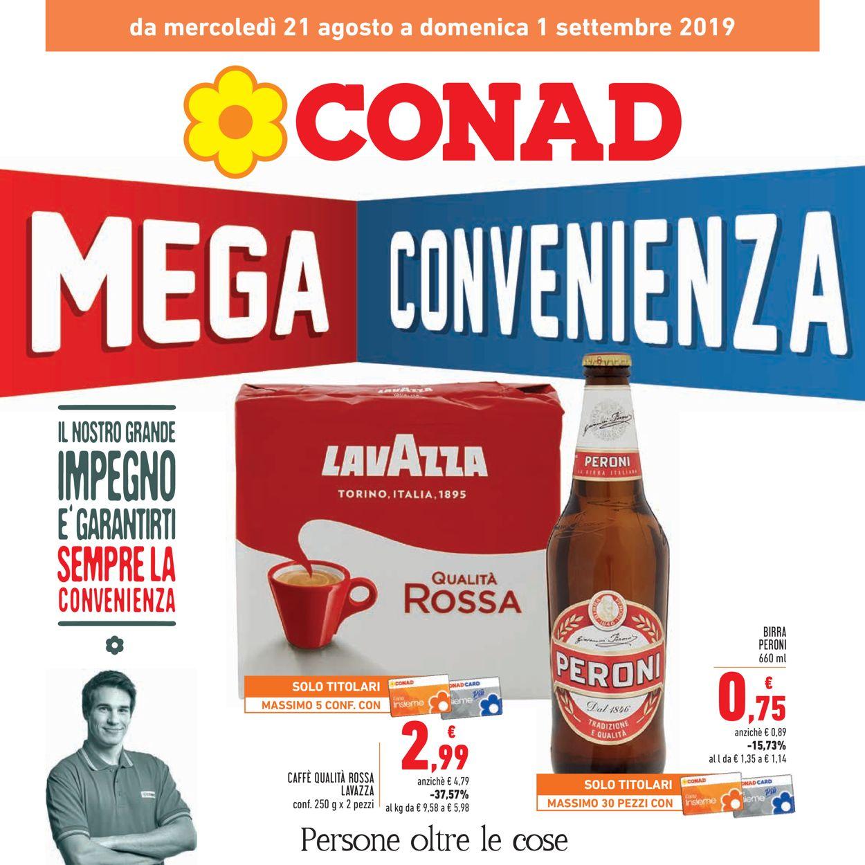 Volantino Conad - Offerte 21/08-01/09/2019