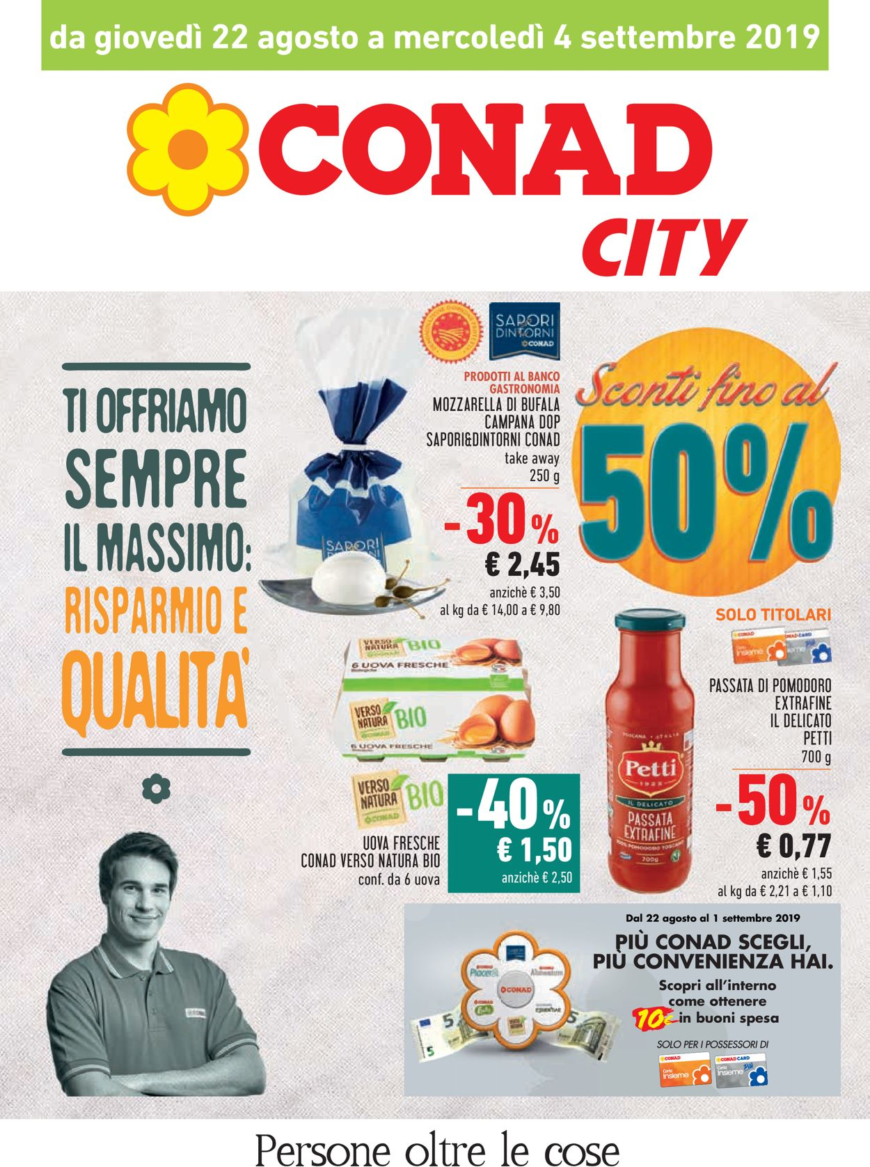 Volantino Conad - Offerte 22/08-04/09/2019