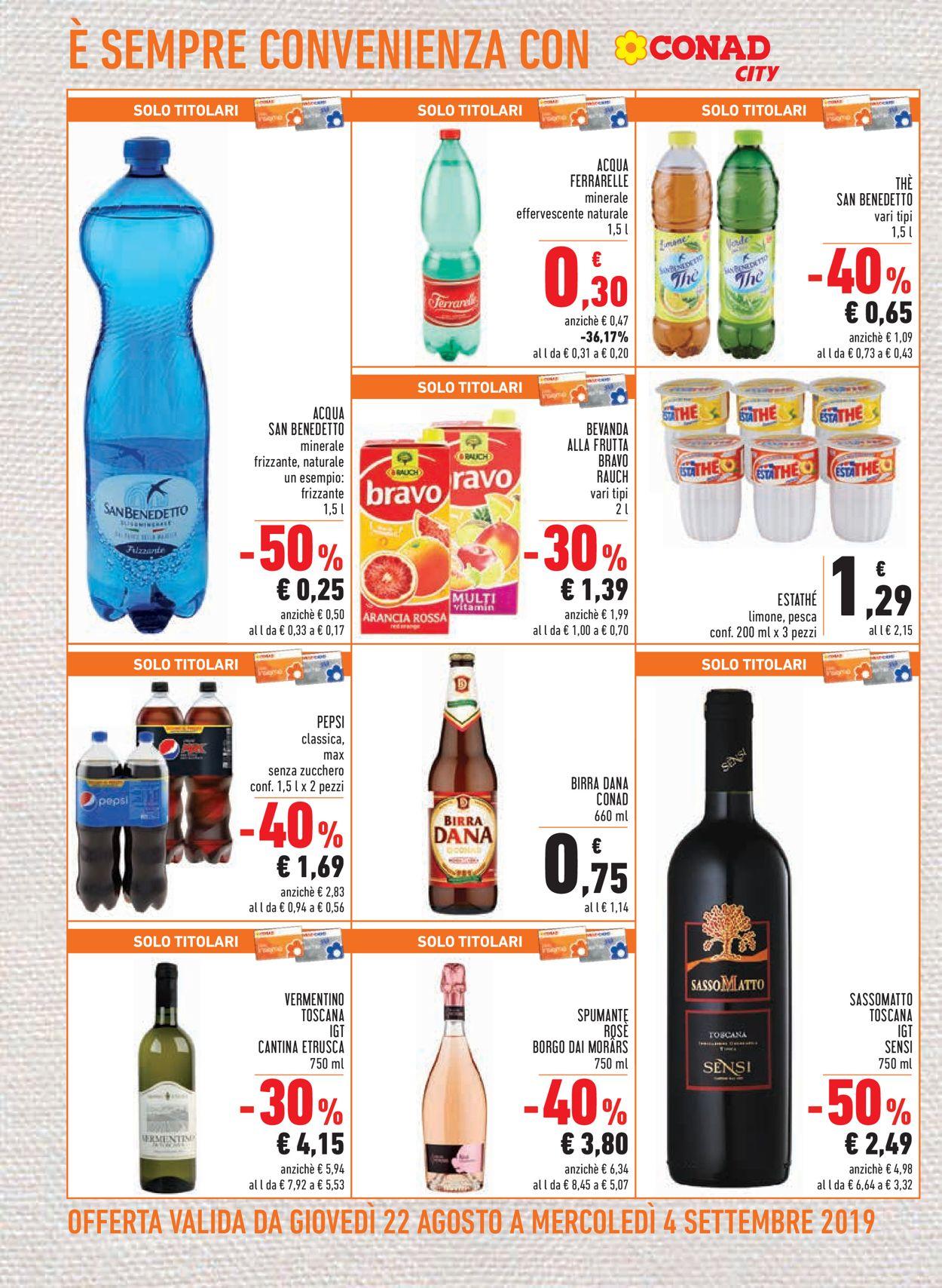 Volantino Conad - Offerte 22/08-04/09/2019 (Pagina 14)