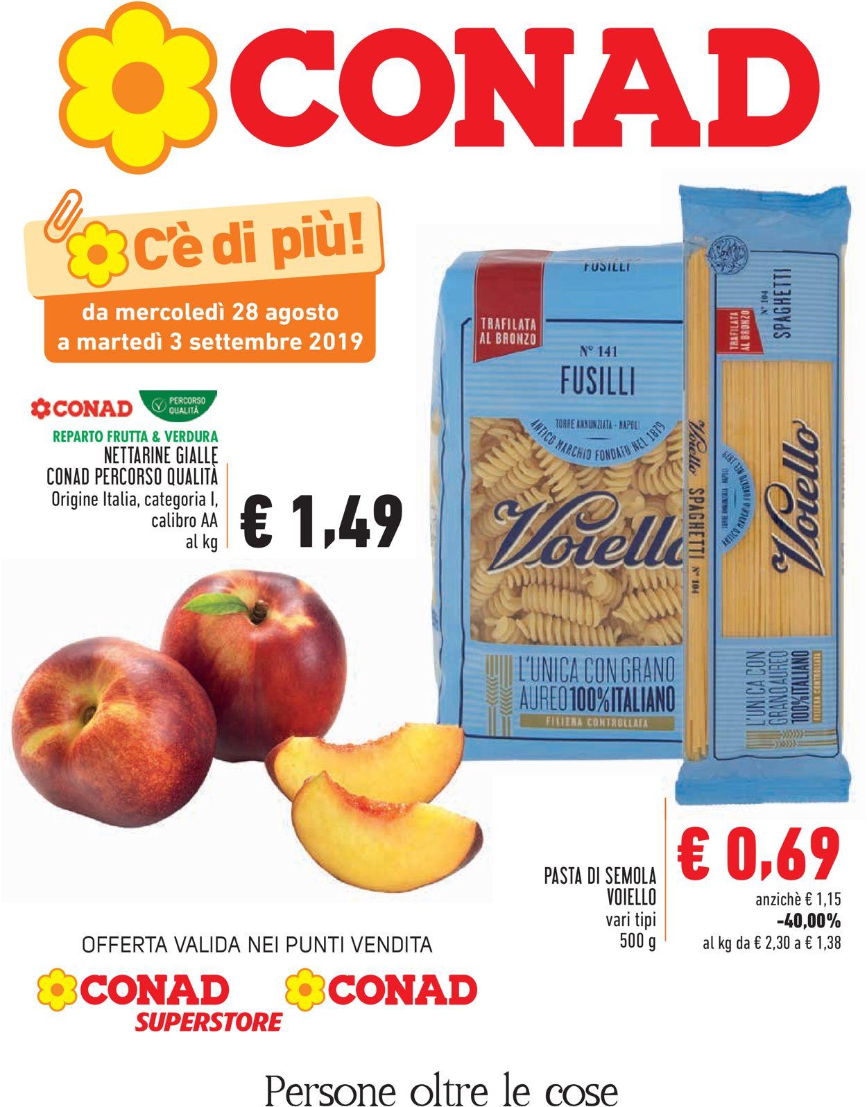 Volantino Conad - Offerte 28/08-03/09/2019