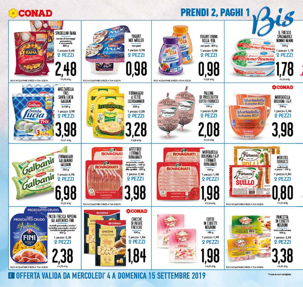 Volantino Conad - Offerte 04/09-15/09/2019 (Pagina 2)