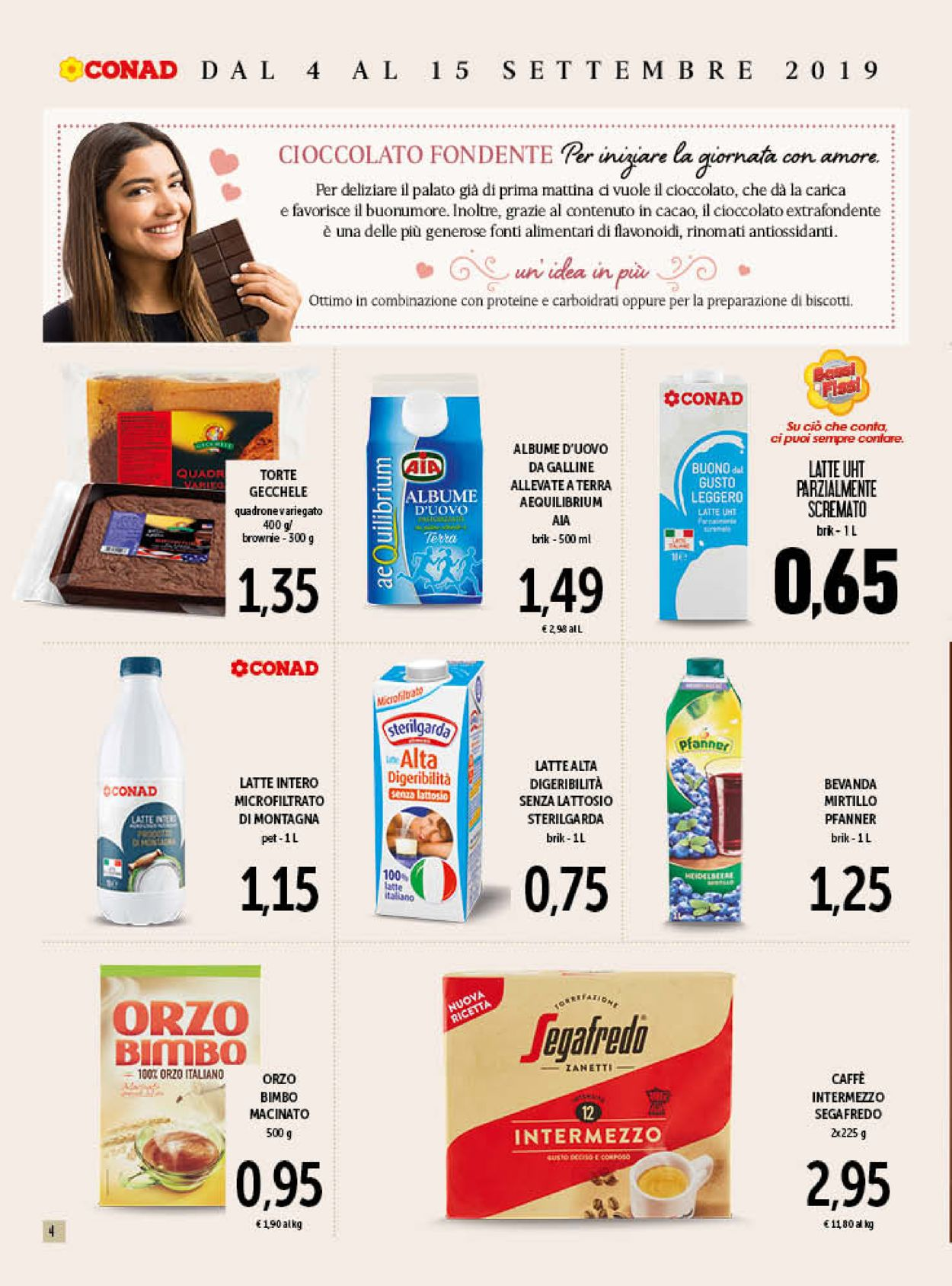 Volantino Conad - Offerte 04/09-15/09/2019 (Pagina 4)