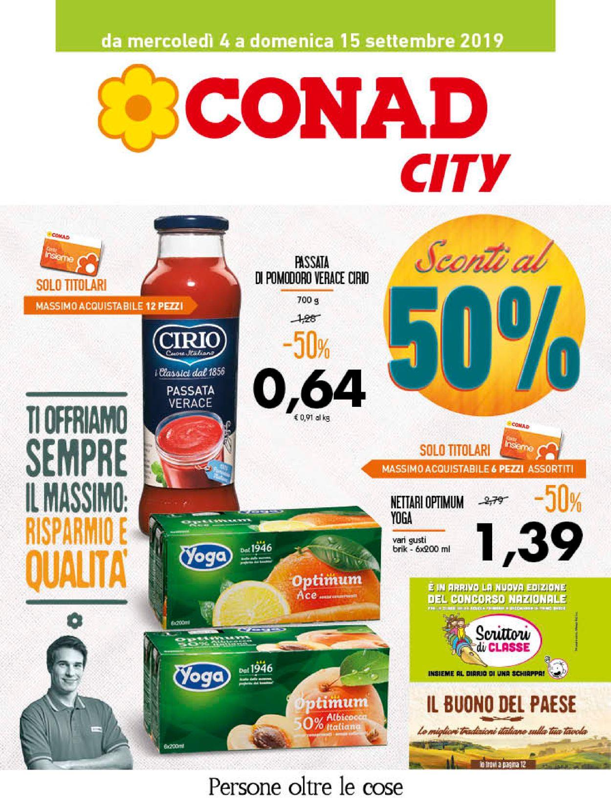 Volantino Conad - Offerte 04/09-15/09/2019