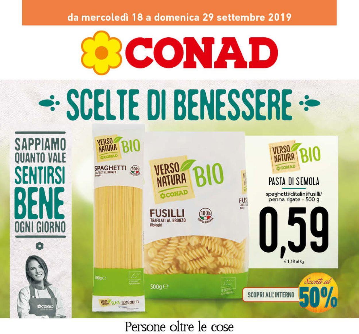 Volantino Conad - Offerte 18/09-29/09/2019