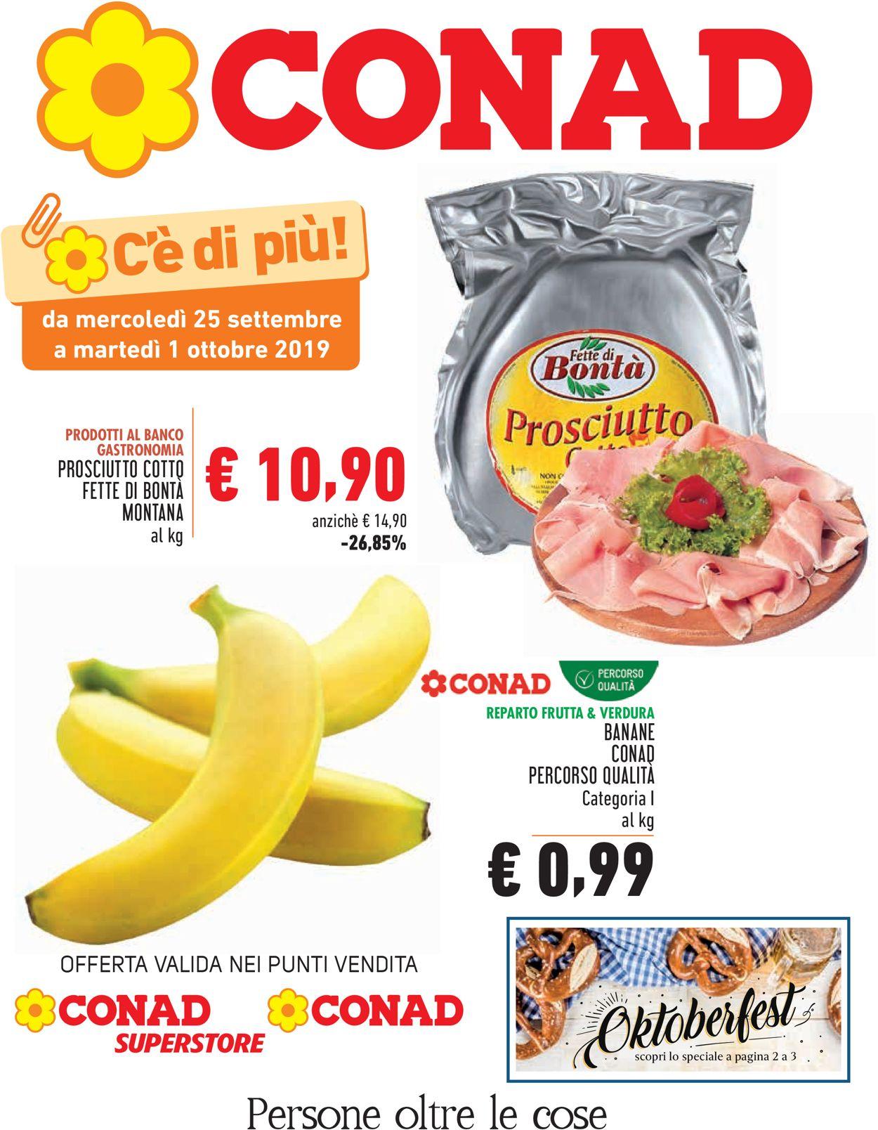 Volantino Conad - Offerte 25/09-01/10/2019