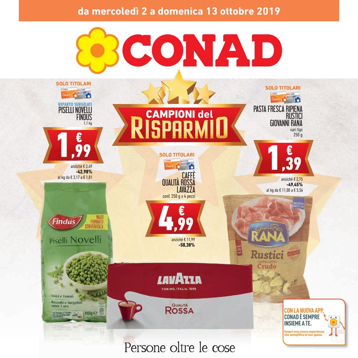 Volantino Conad - Offerte 02/10-13/10/2019