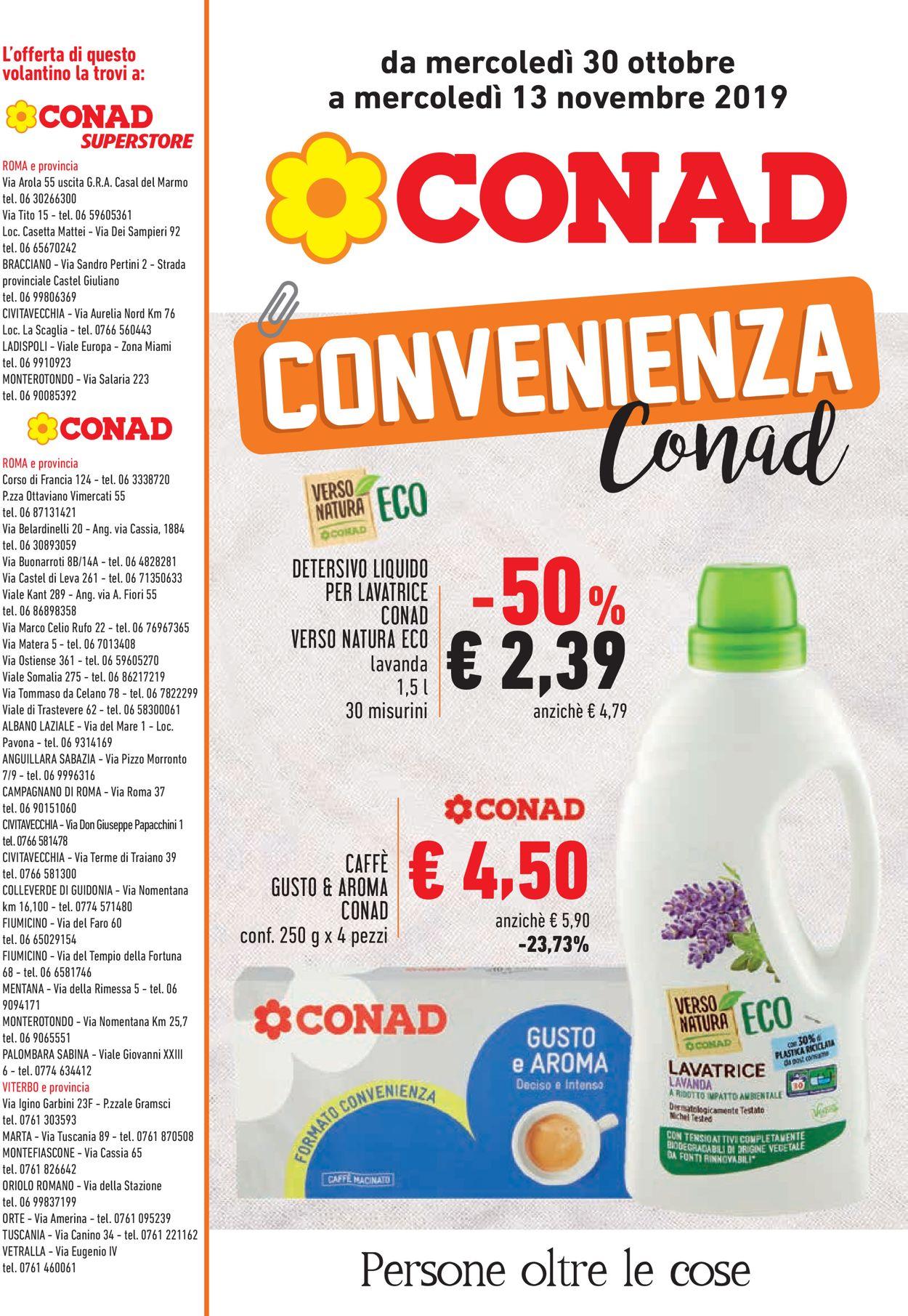 Volantino Conad - Offerte 30/10-13/11/2019