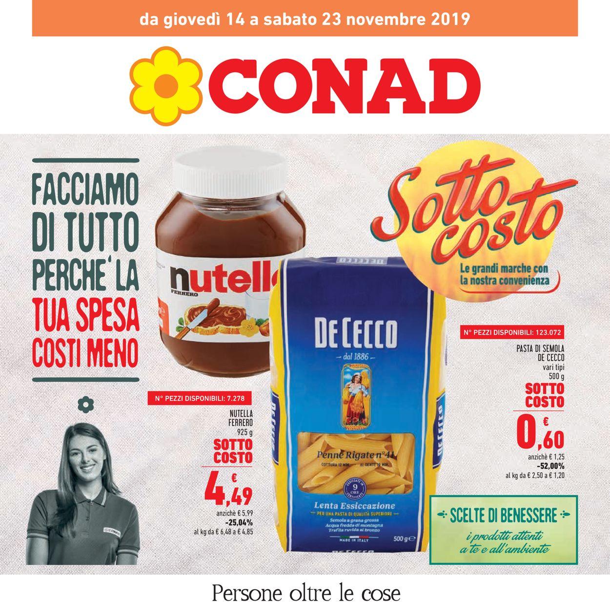 Volantino Conad - Offerte 14/11-23/11/2019
