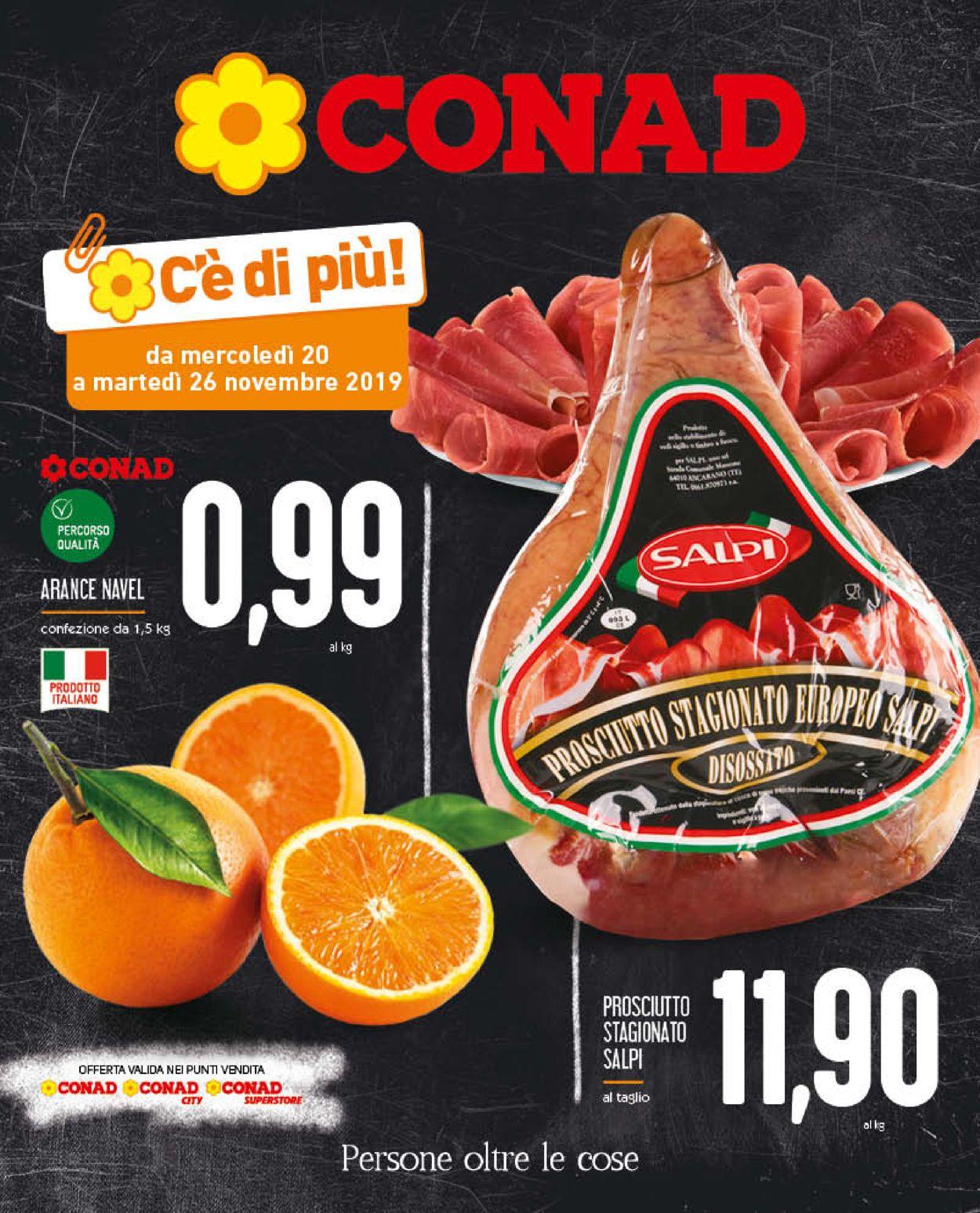 Volantino Conad - Offerte 20/11-26/11/2019