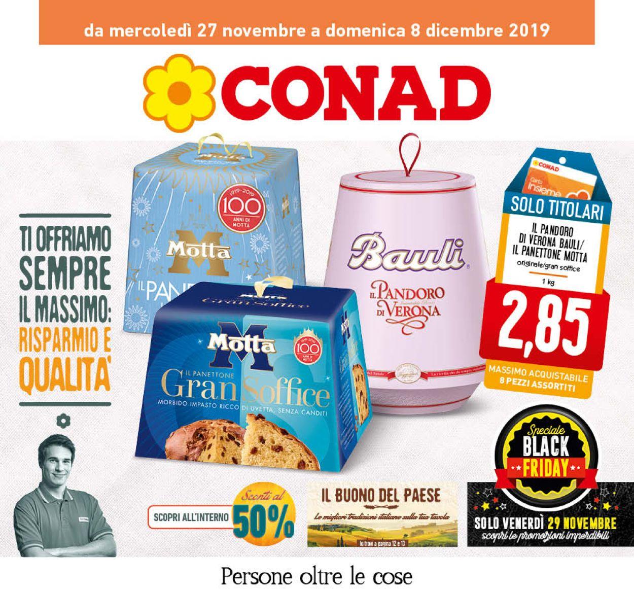 Volantino Conad - Black Friday 2019 - Offerte 27/11-08/12/2019