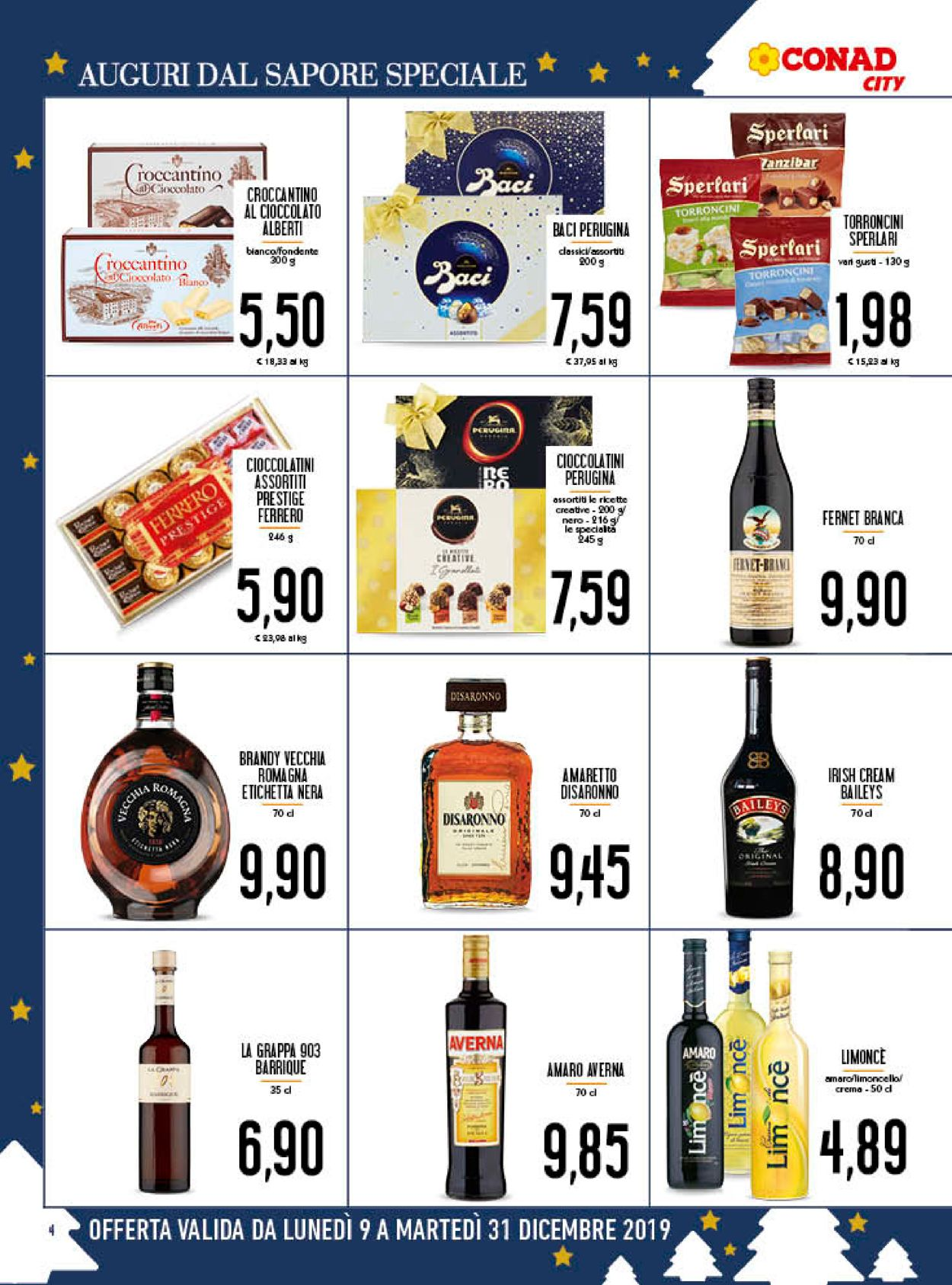Volantino Il volantino natalizio di Conad - Offerte 09/12-31/12/2019 (Pagina 4)