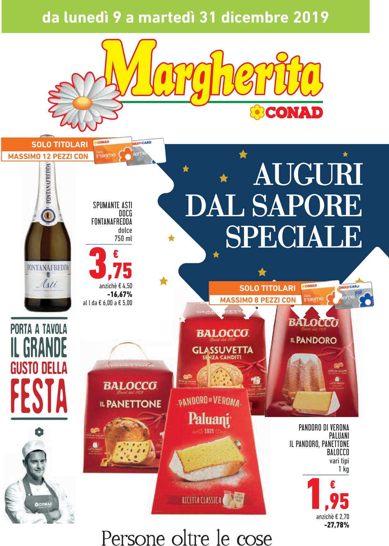 Volantino Il volantino natalizio di Conad - Offerte 09/12-31/12/2019