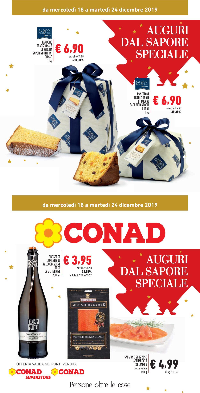 Volantino Il volantino natalizio di Conad - Offerte 18/12-24/12/2019