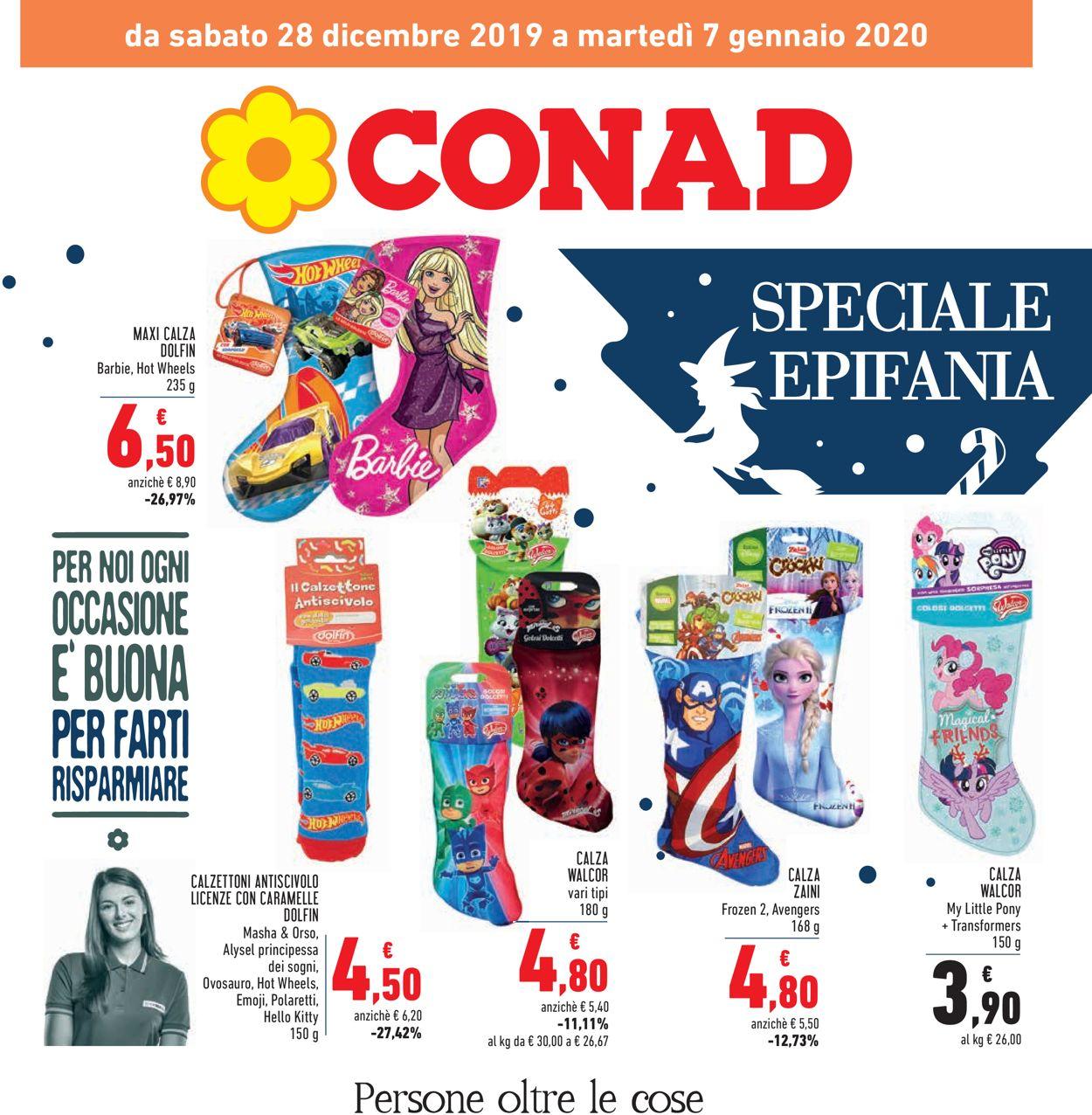 Volantino Conad - Offerte 28/12-07/01/2020
