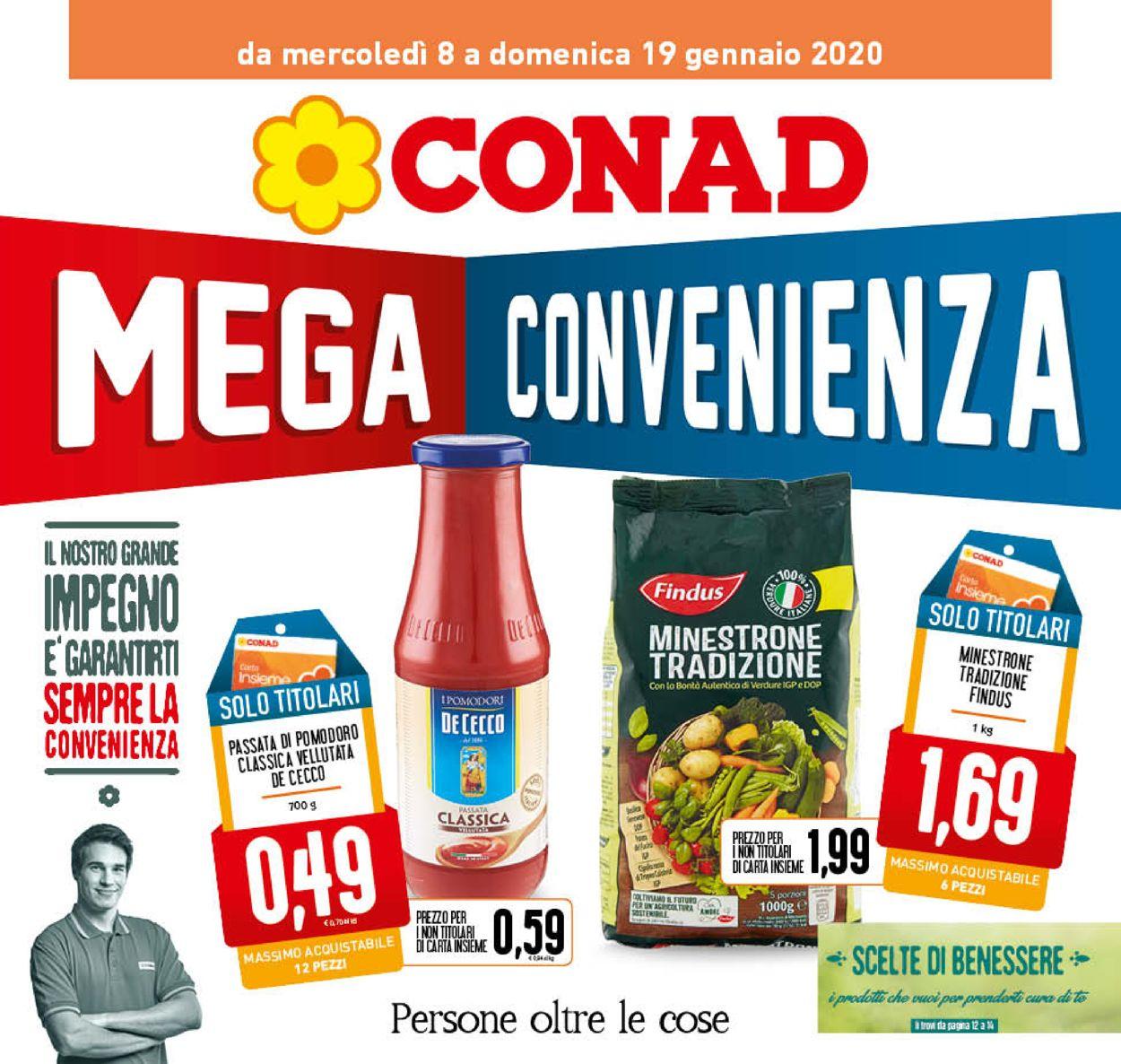 Volantino Conad - Offerte 08/01-19/01/2020