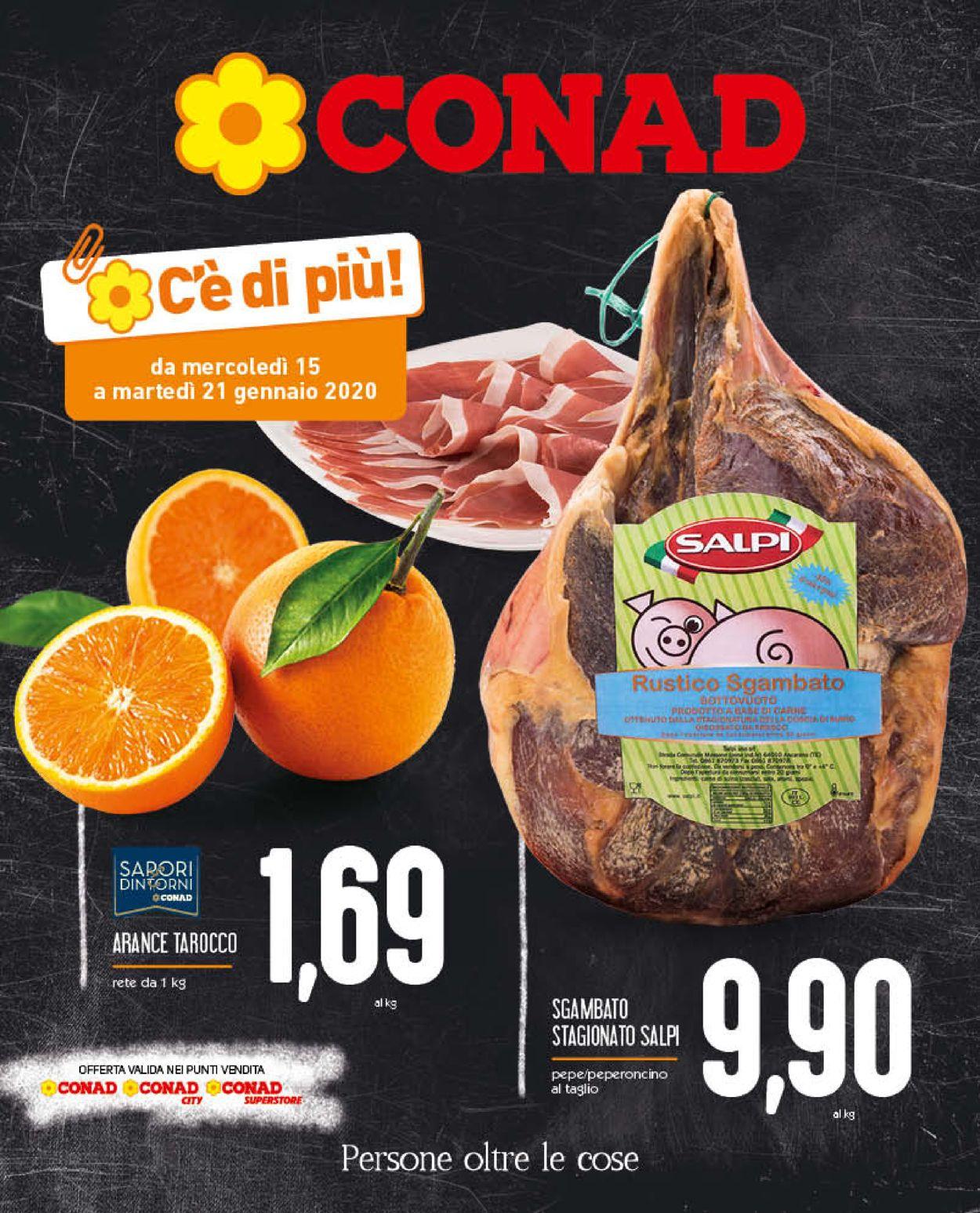 Volantino Conad - Offerte 15/01-21/01/2020