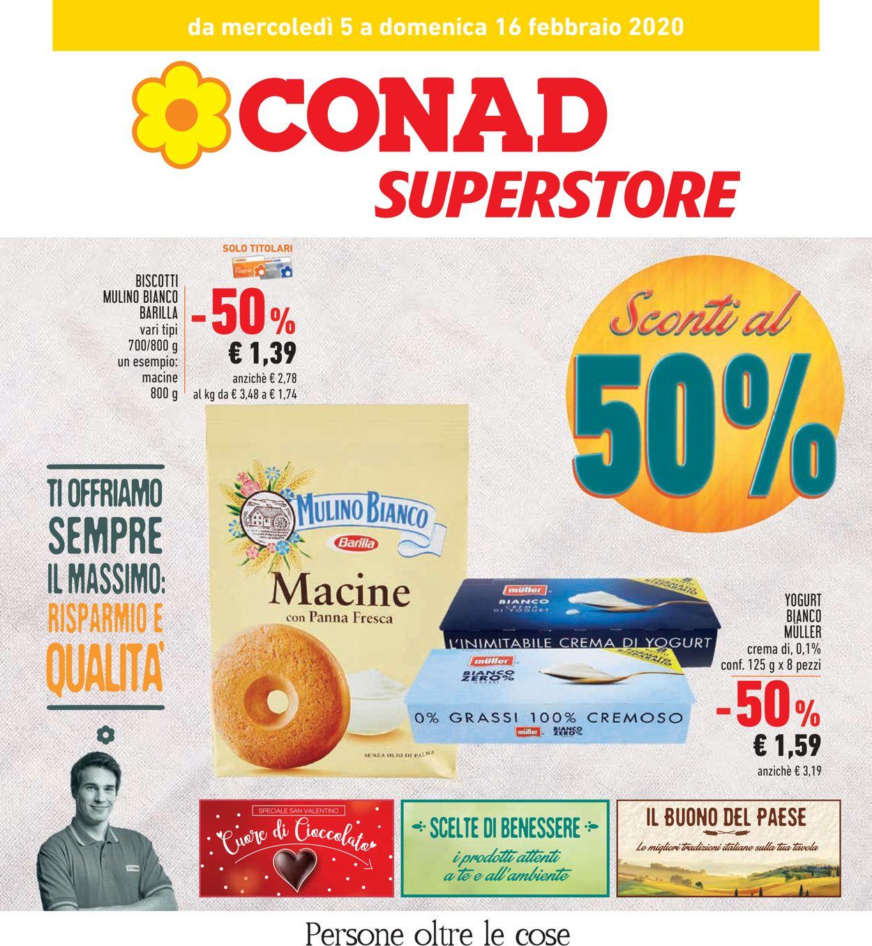 Volantino Conad - Offerte 05/02-16/02/2020