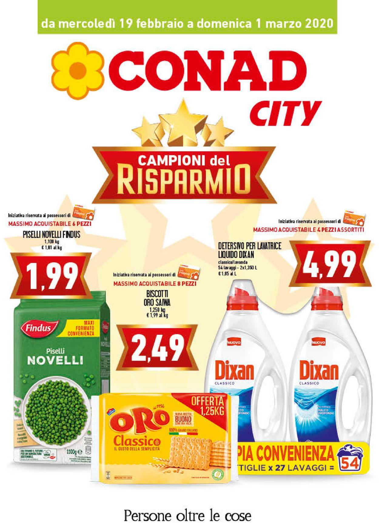 Volantino Conad - Offerte 19/02-01/03/2020
