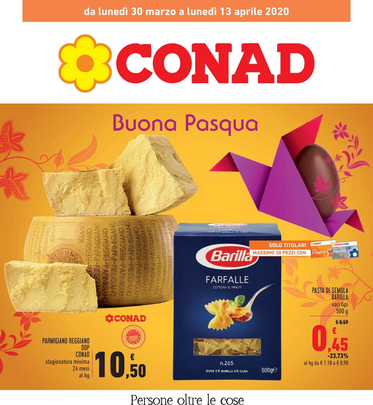 Volantino Conad - Offerte 30/03-13/04/2020