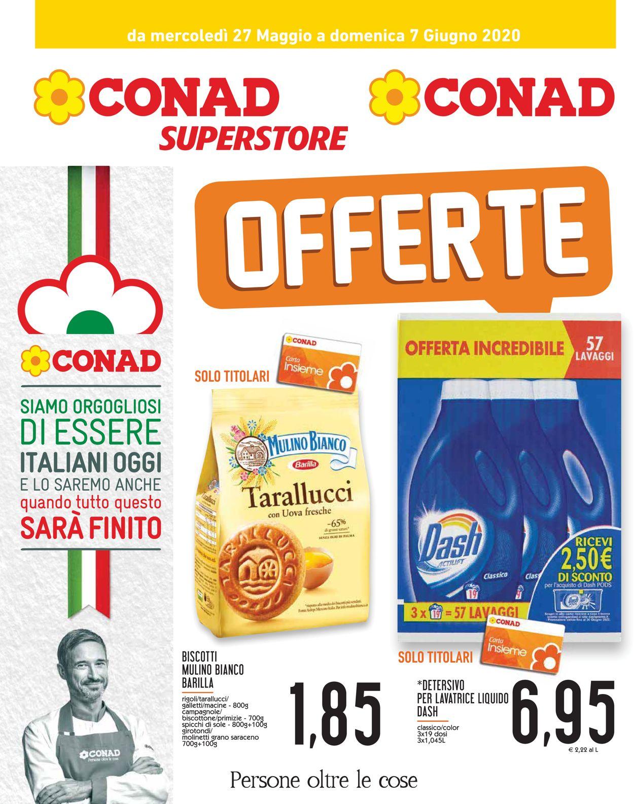 Volantino Conad - Offerte 27/05-07/06/2020