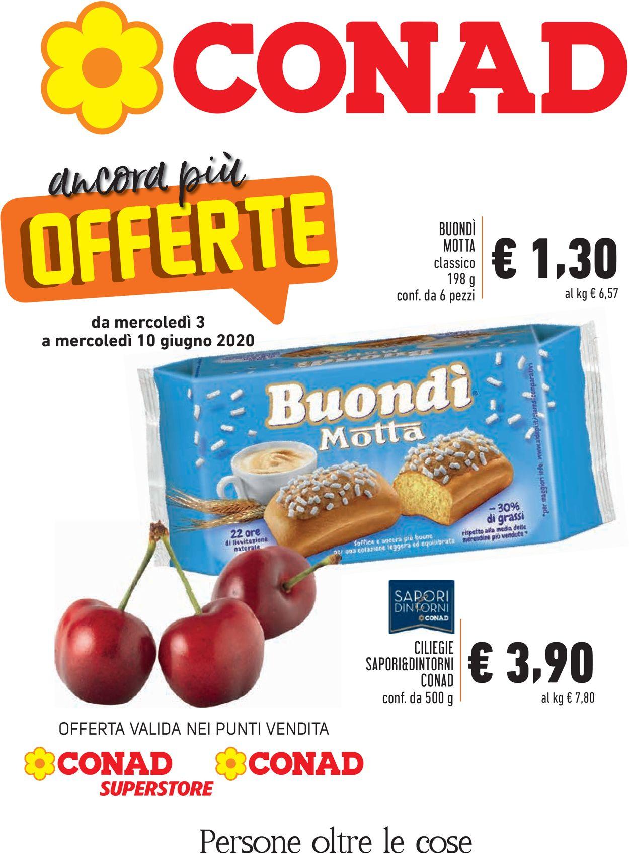 Volantino Conad - Offerte 03/06-10/06/2020