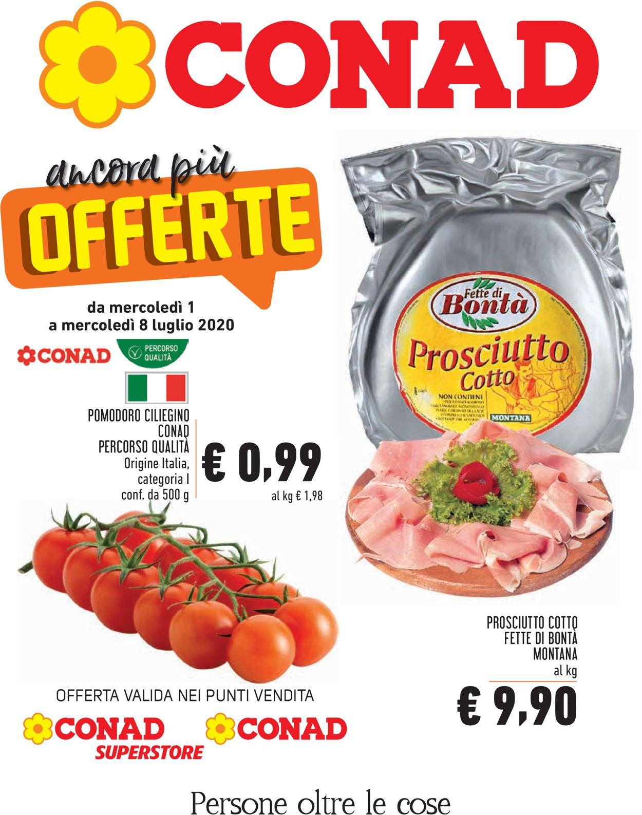 Volantino Conad - Offerte 01/07-08/07/2020