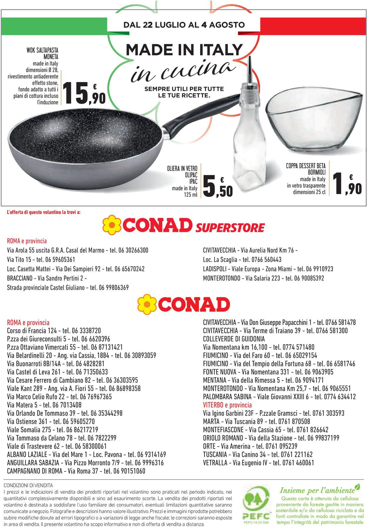 Volantino Conad - Offerte 22/07-04/08/2020 (Pagina 24)