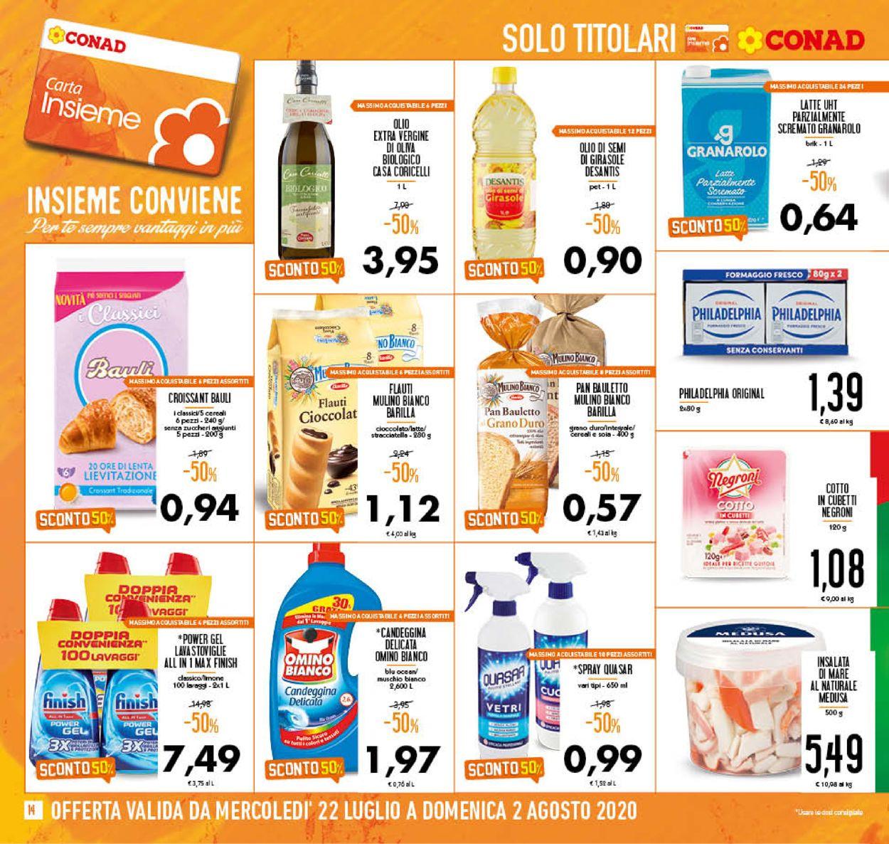 Volantino Conad - Offerte 22/07-02/08/2020 (Pagina 14)