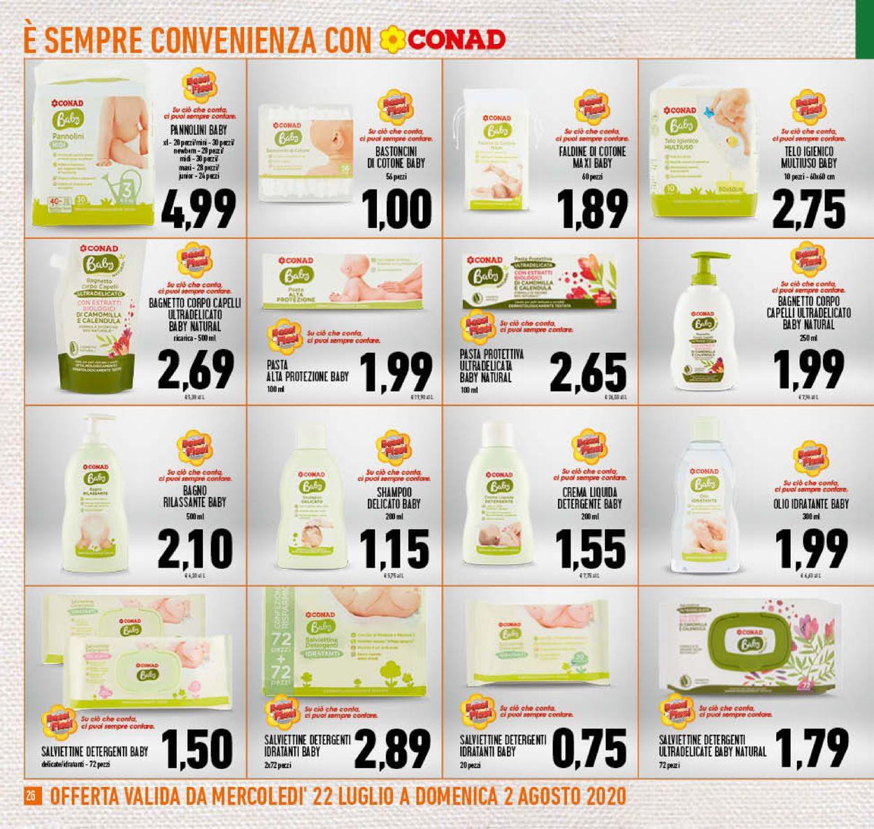 Volantino Conad - Offerte 22/07-02/08/2020 (Pagina 26)