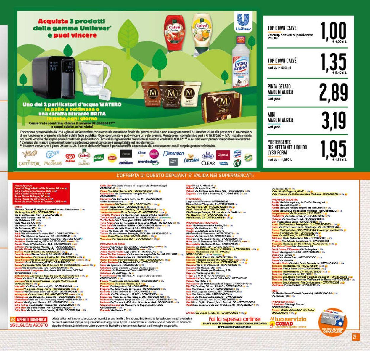 Volantino Conad - Offerte 22/07-02/08/2020 (Pagina 27)