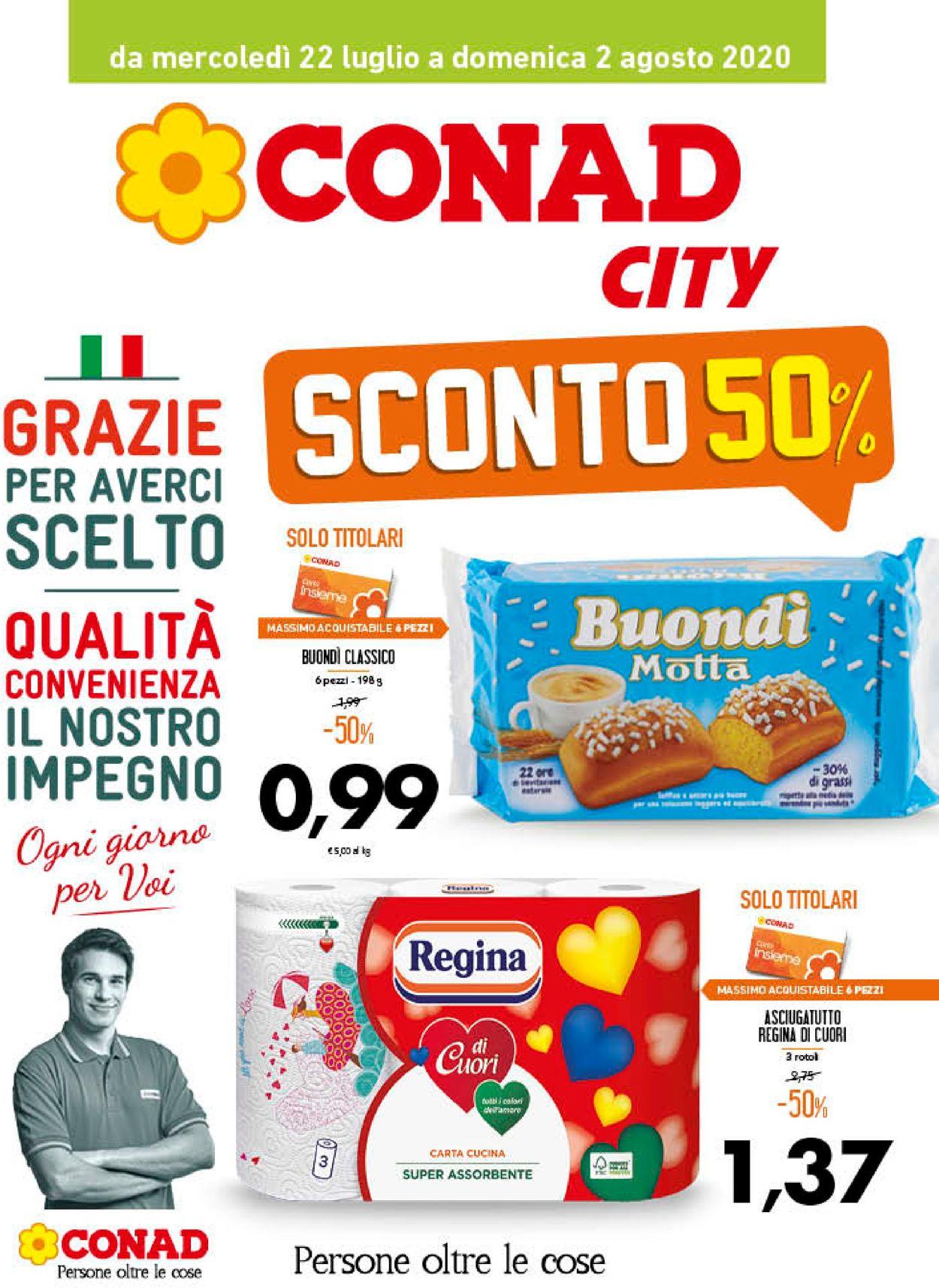 Volantino Conad - Offerte 22/07-02/08/2020