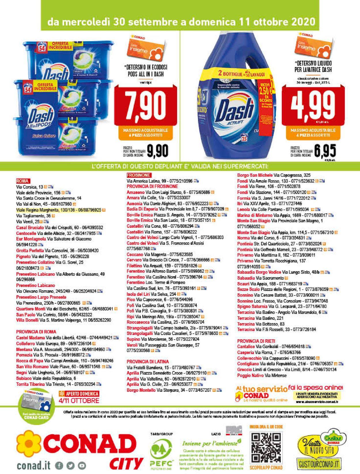 Volantino Conad - Offerte 30/09-11/10/2020 (Pagina 20)