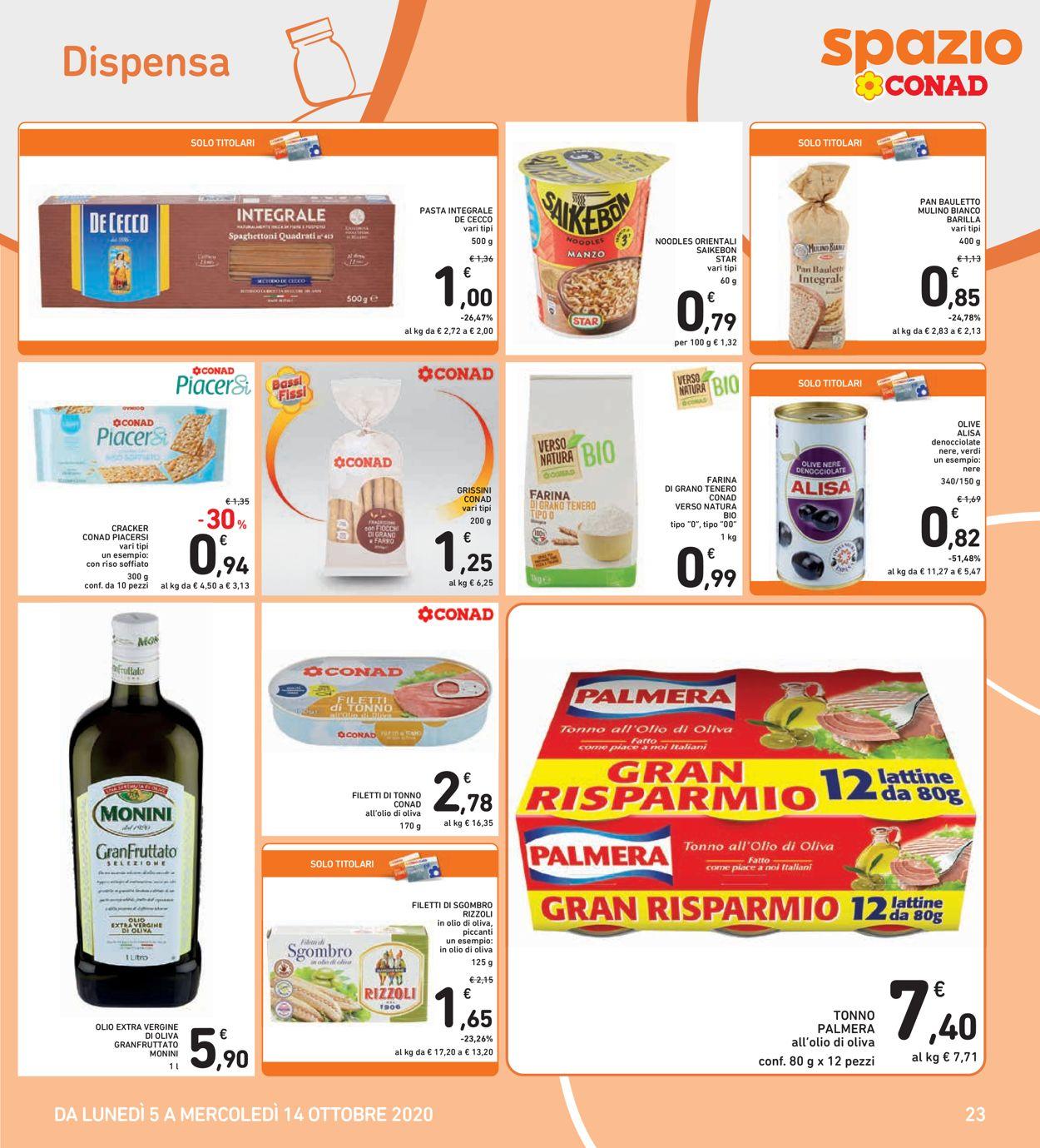 Volantino Conad - Offerte 05/10-14/10/2020 (Pagina 23)