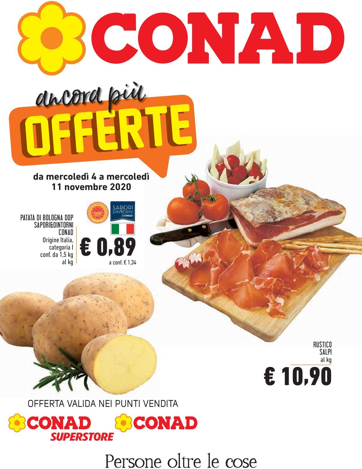 Volantino Conad - Offerte 04/11-11/11/2020