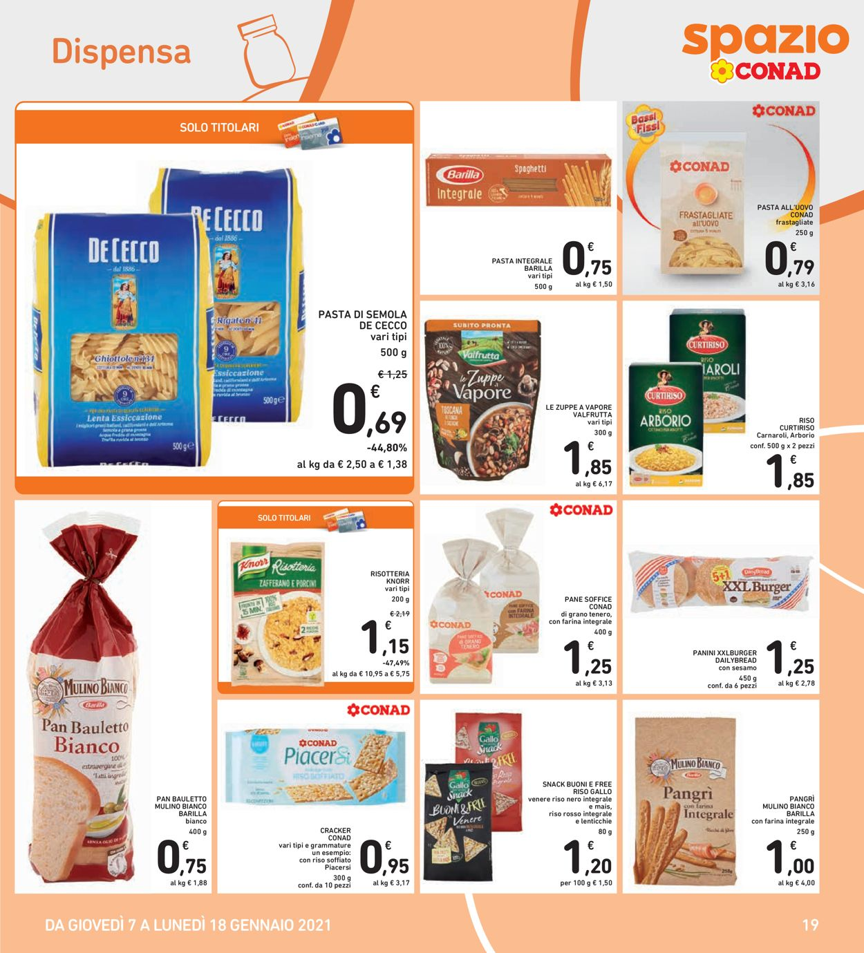 Volantino Conad - Offerte 07/01-18/01/2021 (Pagina 19)