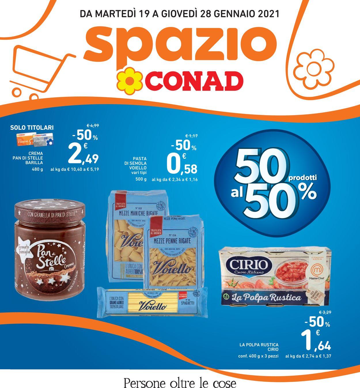 Volantino Conad Spazio - Offerte 19/01-28/01/2021