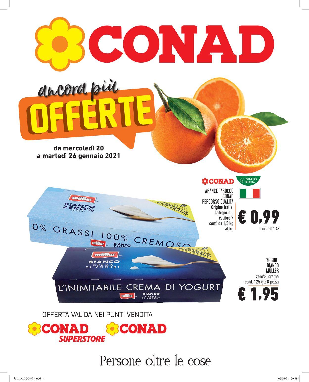 Volantino Conad - Offerte 20/01-26/01/2021