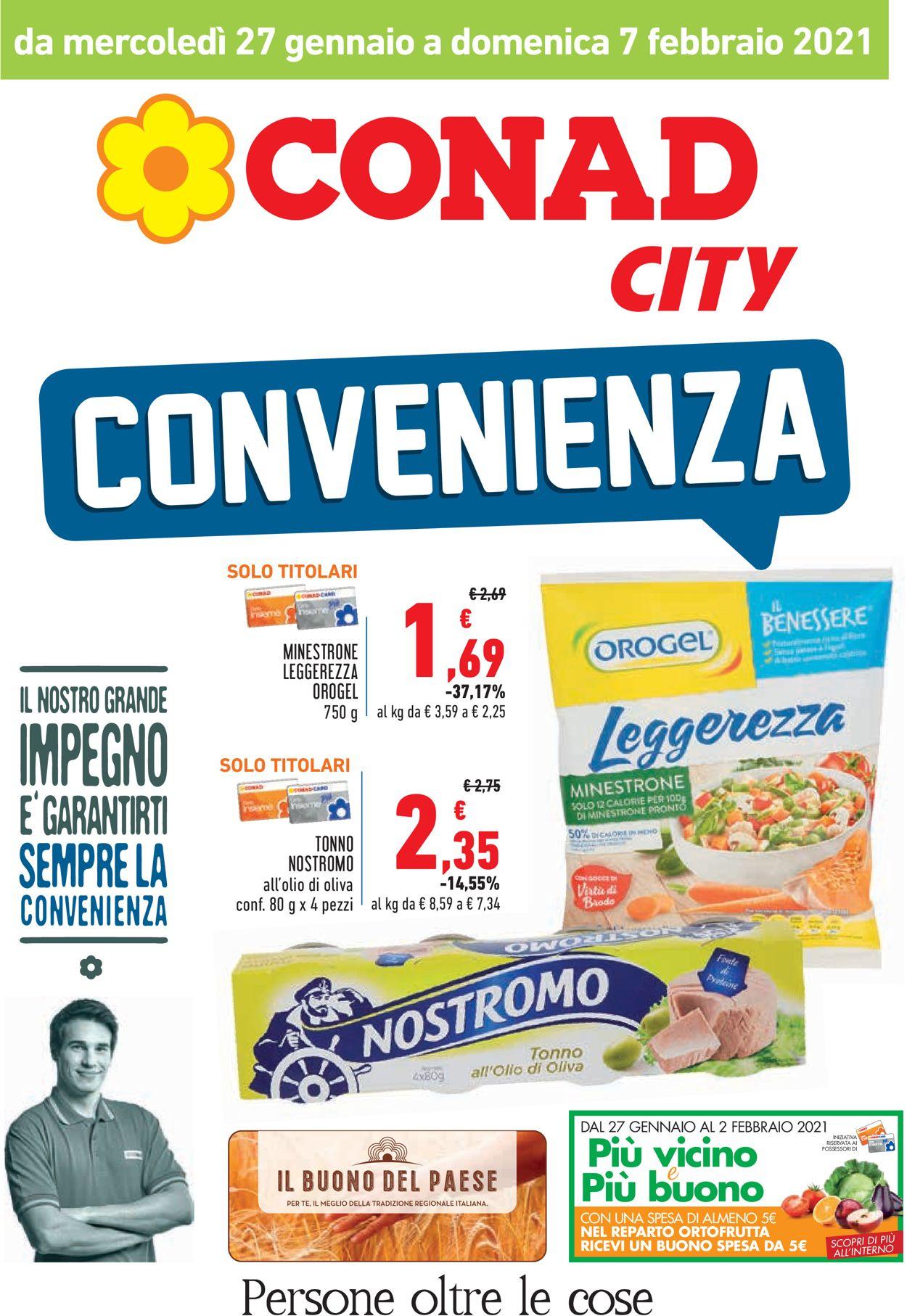 Volantino Conad City - Offerte 27/01-07/02/2021