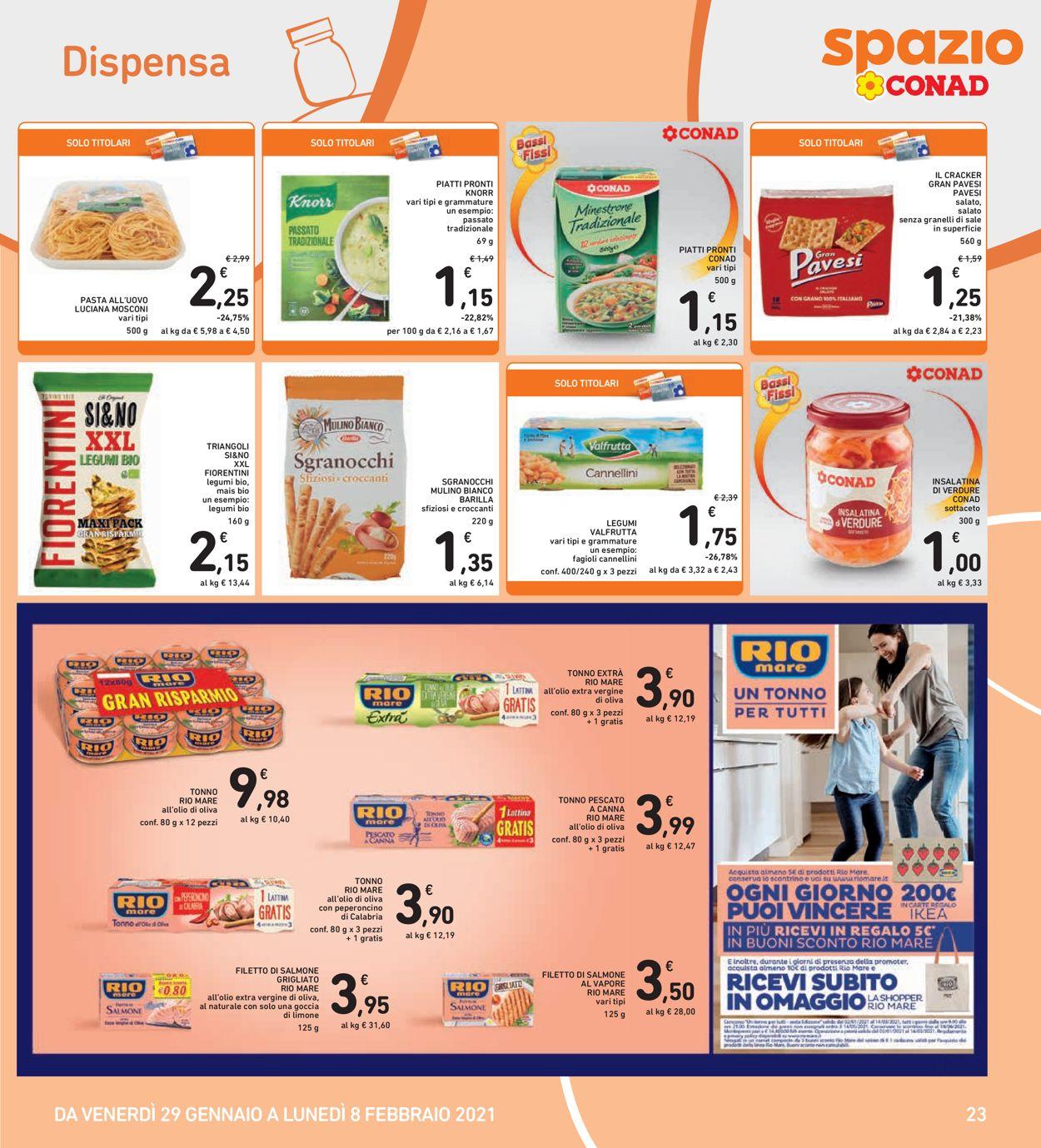 Volantino Conad Spazio - Offerte 29/01-08/02/2021 (Pagina 23)